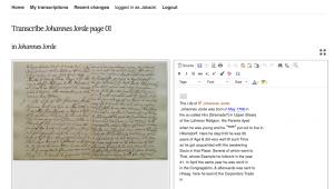 Moravian Lives Transcription Desk